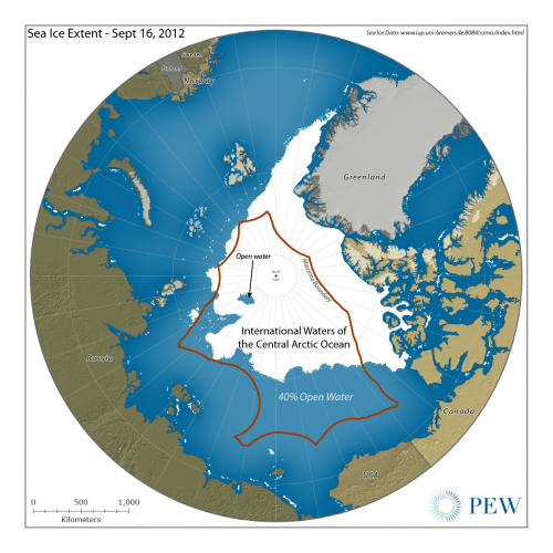 Arctic Ice Extent Sept 16 2012 PEW- Web