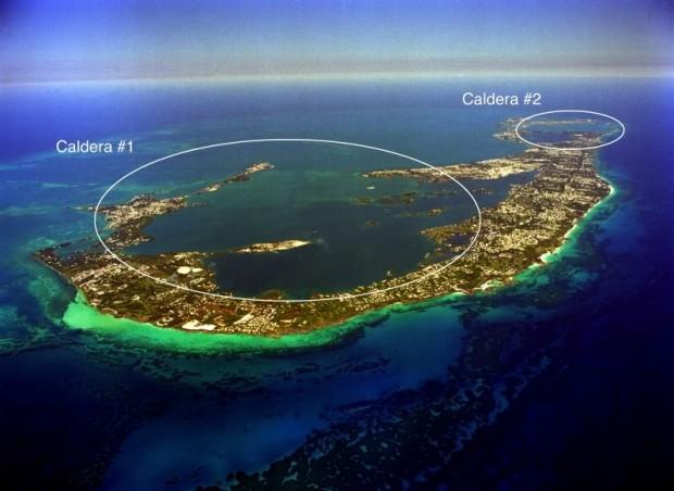 Bermuda showing calderas NOAA