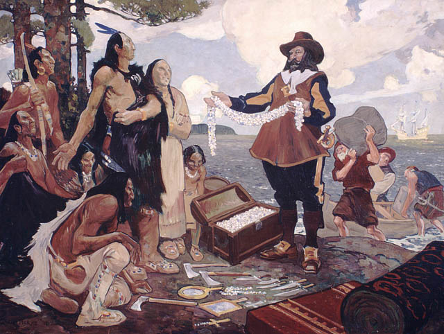 Champlain trading with the indians  MIKAN 2837451c103059k