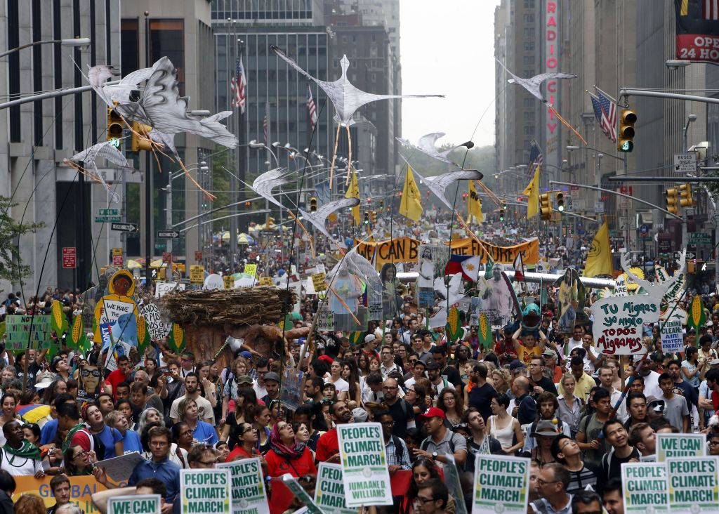 ClimateMarchNewYork Jason DeCrow - AP