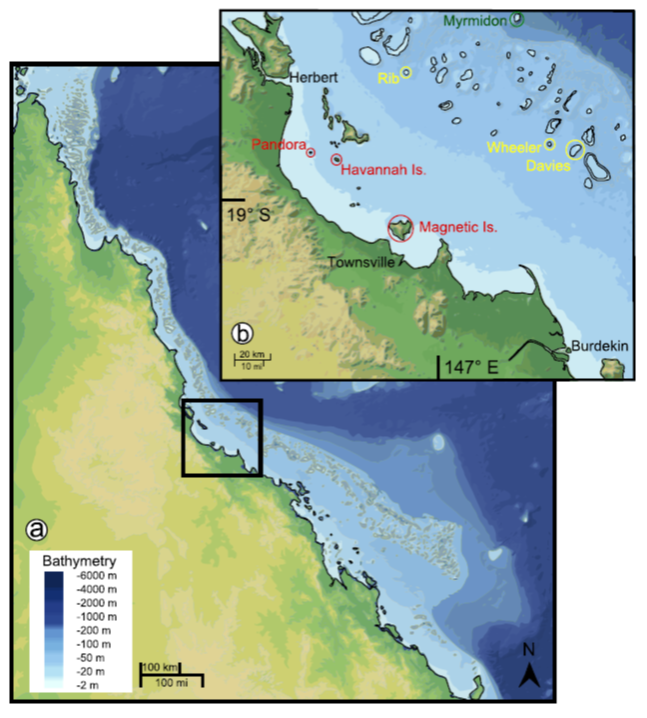 D'Olivo Coral Reefs 12-2013 map