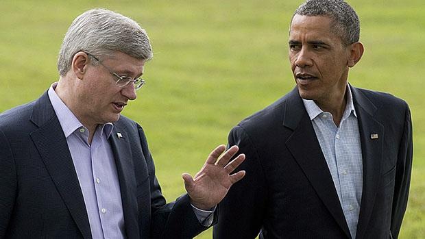Harper Obama in 2013 Adrian Wyld - CP