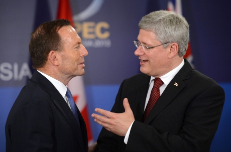 australian-pm-tony-abbott-with-canadian-pm-stephen-harper sean kilpatrick